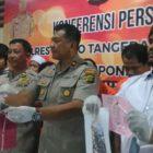 Polsek Cipondoh Gelar Kasus Lima Pelaku Curat
