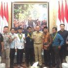 Jelang Kongres KNPI, Diko Nugraha Silaturahmi ke Walikota Bogor
