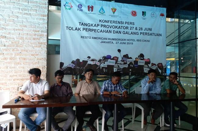 Sejumlah Mahasiswa dan Pemuda Minta Polisi Tangkap Provokator 27-28 Juni