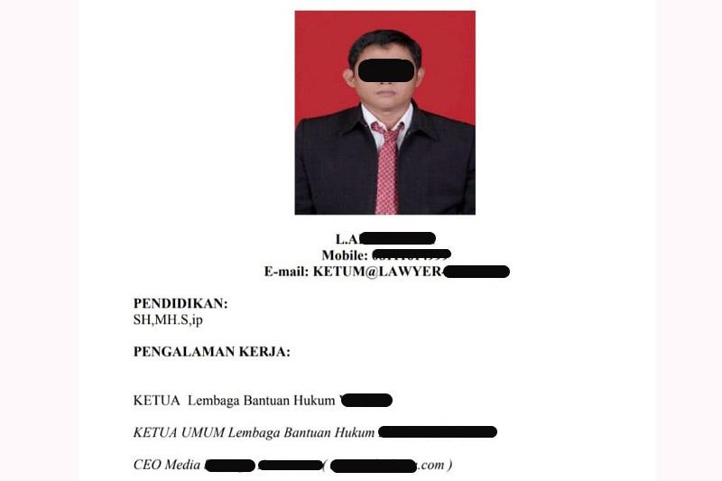 Pengacara LA Diduga Menipu Dengan Modus Bisa Loloskan Seleksi TNI