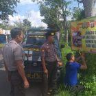 Jelang Nataru, Polsek Kapuas Hilir Pasang Spanduk Himbauan