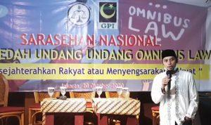 LBH GPI, Gerakan Pemuda Islam, Membedah Undang-Undang Omnibus Law, Sarasehan Nasional,