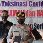 Bhabinkamtibmas dan Tenaga Medis Polres Kepulauan Seribu Divaksin Corona Vac Biofarma